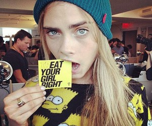 beautiful, cara delevigne, and funny image