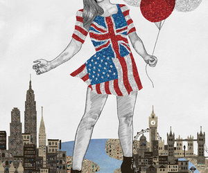america, balloons, and dress image