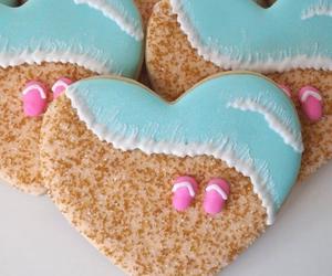 Cookies, beach, and food image