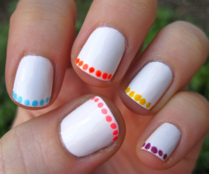 nails, white, and dots image