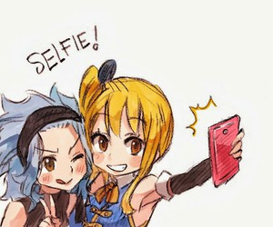 fairy tail, Lucy, and selfie image