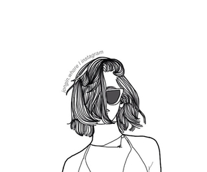 grunge, hair, and outline image
