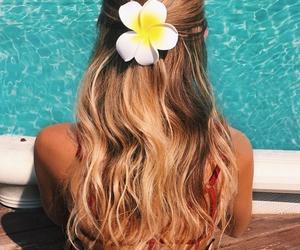 beach, hair, and blonde image
