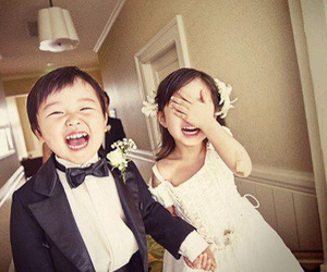cute, kids, and wedding image