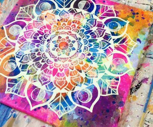 colors, drawing, and mandala image