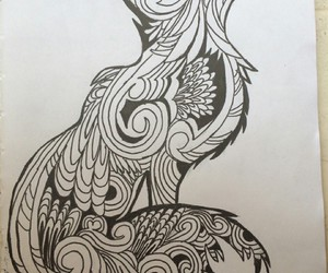 drawing, fox, and new image