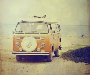 beach, car, and van image