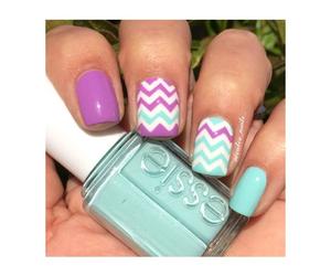 chevron, kawaii, and nail art image