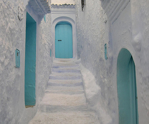 pink, white, and door image