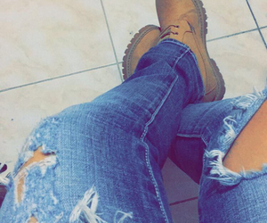 blue, boots, and jeans image