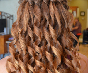 hair, curls, and hairstyle image