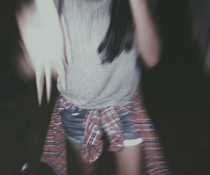 blurry, flannel, and grunge image