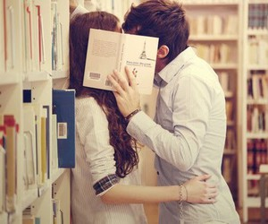 books, boy, and couple image