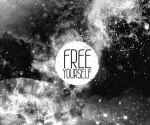 black, free, and galaxy image
