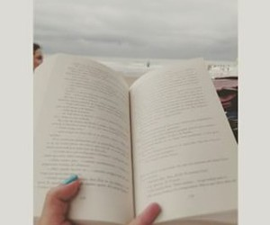 book, sea, and relax image