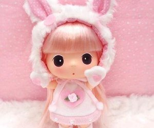 cute, doll, and pink image