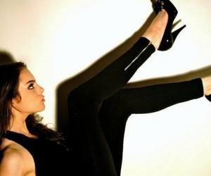 black, liz, and heels image