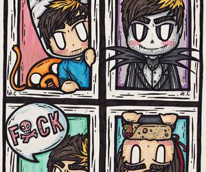 all time low, jack barakat, and adventure time image