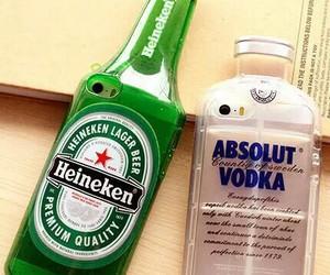 iphone, vodka, and heineken image