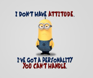 minions, attitude, and personality image