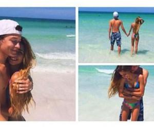 beach, girl, and love image