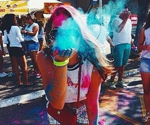 girl, summer, and color image