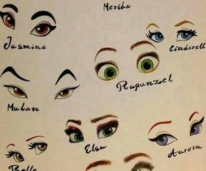disney, eyes, and princess image
