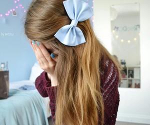 bow, hair, and braid image