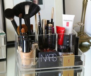 brush, makeup, and neat image