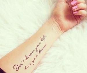 tattoo, Dream, and life image