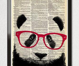 panda, art, and books image