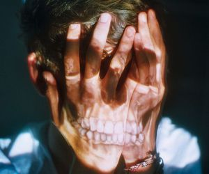 boy, skull, and photography image