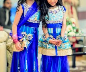 blue, sisters, and lehenga image