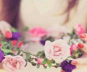 crown, flower, and flower crown image