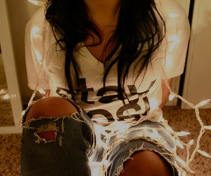 fashion, jeans, and light image