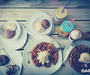 food, icecream, and photo image