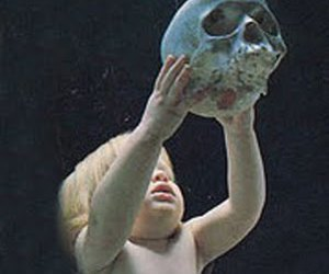 rituals, children, and skulls image