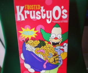 cartoon, cereal, and packaging image