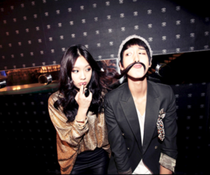 fashion, korean, and moustache image