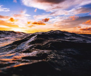 sea, summer, and clouds image
