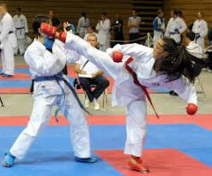 competition, girls, and karate image