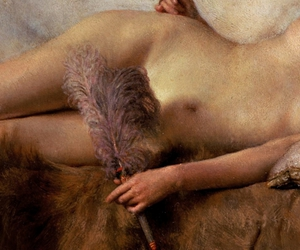 feather, painting, and lawrence alma-tadema image