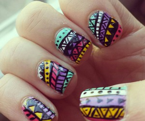 aztec, girly, and nail art image