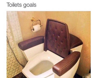 funny, goals, and toilet image