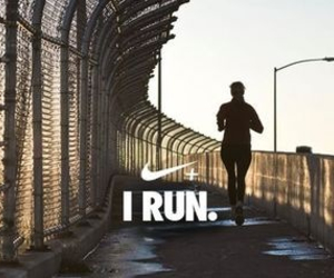 nike, run, and running image