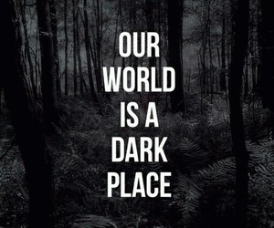 dark, Darkness, and place image