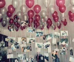 love, balloons, and photo image