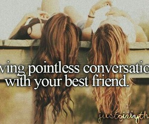 best friends, friends, and conversation image