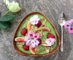 healthy, fruit, and flowers image