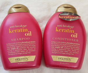 pink, conditioner, and shampoo image